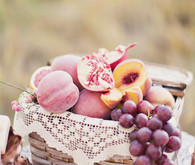 Peach and Plum Fruit Basket