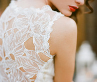 Claire Pettibone Embroidered Gown