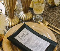 Gold Sparkly Place Setting