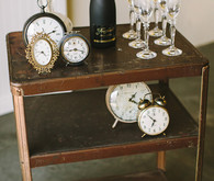 Vintage Clock Bar Cart
