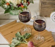 Farm-to-Table Gold Rimmed Wine Glasses