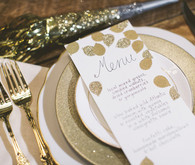 Gold Leaf Menu and Place Setting