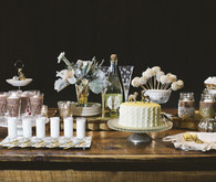Vintage Winter Dessert Bar