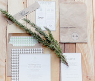 Rosemary and Kraft Wedding Invitations