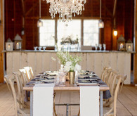 Wood and Metal Reception Tables