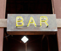 Yellow Neon Bar Sign