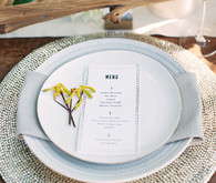 Gray and White Place Setting