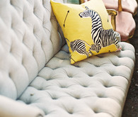 Button-Tufted Vintage Couch