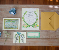 Hand-Painted Wedding Invitations