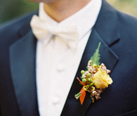 Yellow Orange Rustic Boutonniere