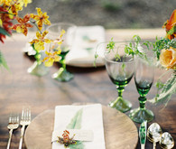 Rustic Wood Place Setting