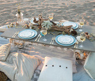 Beachside Wood Tablescape