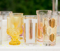 Mixed Colorful Glassware