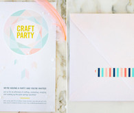 Colorful Kaleidoscope Invites