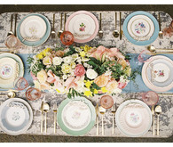 Mixed Botanical China Tablescape