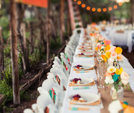 Colorful Rustic Table Setting