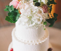 Floral Arrangement Wedding Cake Topper