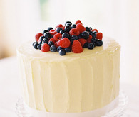 Buttercream and Berry Cake
