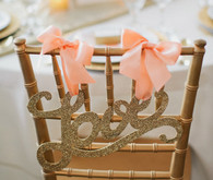 Gold Laser Cut Love Chair Sign
