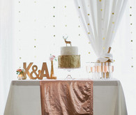 Rose Gold Metallic Cake Table