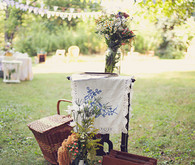 Rustic Backyard Ceremony Decor