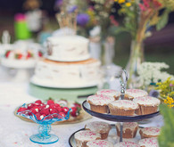 Backyard Colorful Dessert Table