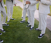 ACNE Suits with Navy Vans