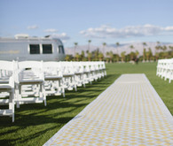 Modern Yellow and White Geometric Aisle Runner