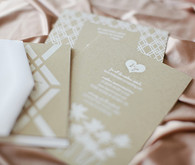 Modern Kraft and White Invitations