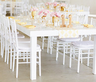 Modern White, Yellow, and Gold Reception