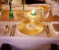 Gold Record Place Settings