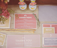 Salmon, Saffron, and Coral Invitation Suite