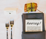 Rustic Gray and White Table Setting