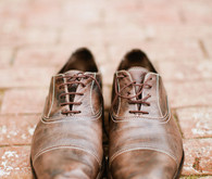 Paul Smith Brown Worn Leather Shoes