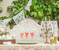 Romantic Latin Inspired Champagne Table