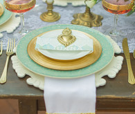 Mint and Gold Latin Inspired Place Setting