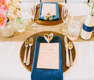 Navy and Pink Classic Place Setting
