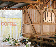 Rustic Modern Reception Decor