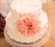 Pink Dahlia Two Tier Cake