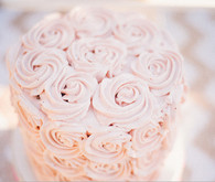 Pink Rose Covered Cake