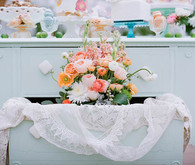 Spring Tea Party Floral Cabinet