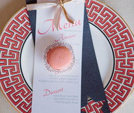 Pink and Blue Star Place Setting