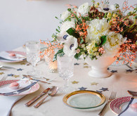 Peach and Cream Star Tablescape