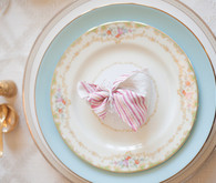 Mixed Floral and Blue Vintage Plates
