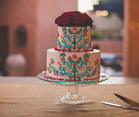 Colorful Mexican Wedding Cake
