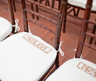 Kraft Reserved Seating Signs