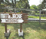 Wooden Farm Wedding Sign