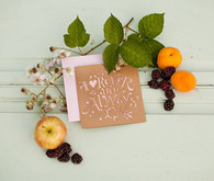 Cut-out rustic invitation