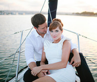 Romantic Sunset Boat Portrait