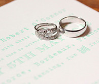 Mint Invitation and Rings